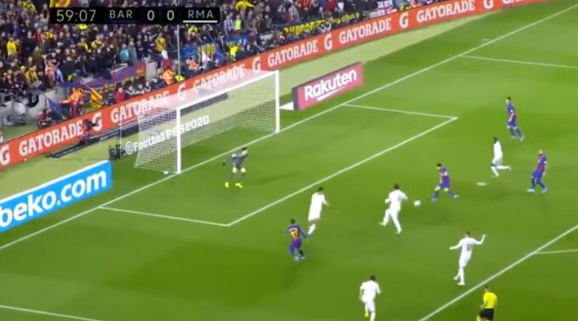 Lionel Messi inexplicably missed a tap in during the El Clasico