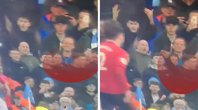 Man City fan disgustingly mocks Munich air disaster during the Manchester derby