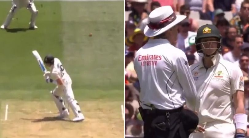 WATCH: Steve Smith argues with umpire after being denied of leg bye at MCG