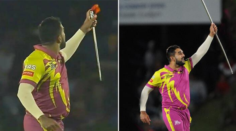 Tabraiz Shamsi celebration Watch South African Leg Spinner performs magic trick after taking a wicket
