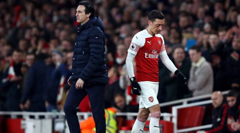 Unai Emery explains why he sidelined Mesut Ozil during his stay at Arsenal