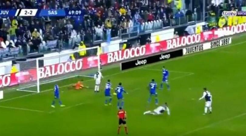 Cristiano Ronaldo blocks Paulo Dybala's goal bound strike, Juventus end up drawing