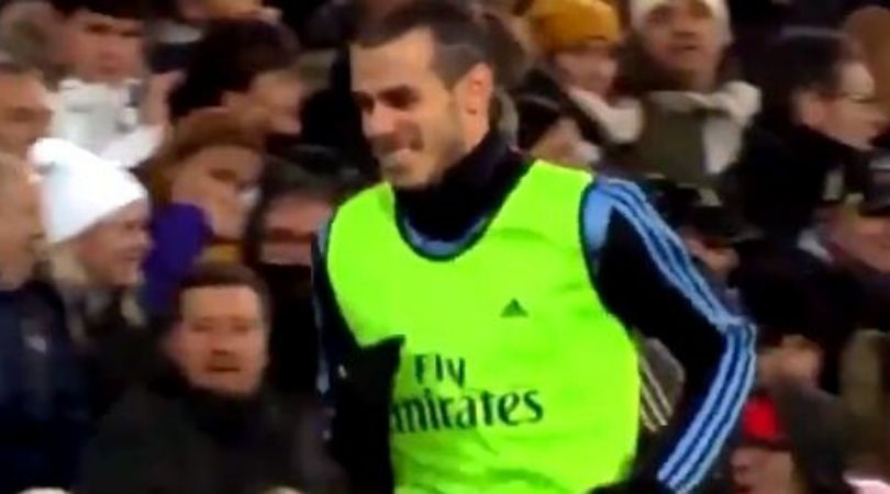Gareth Bale gives brilliant reaction after noticing Real Madrid fans' boo at him