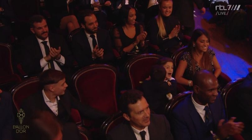 WATCH: Thiago and Matteo's reaction after Lionel Messi wins 6th Ballon d'or