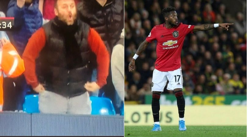Fred racially abused by Manchester City fan during derby game