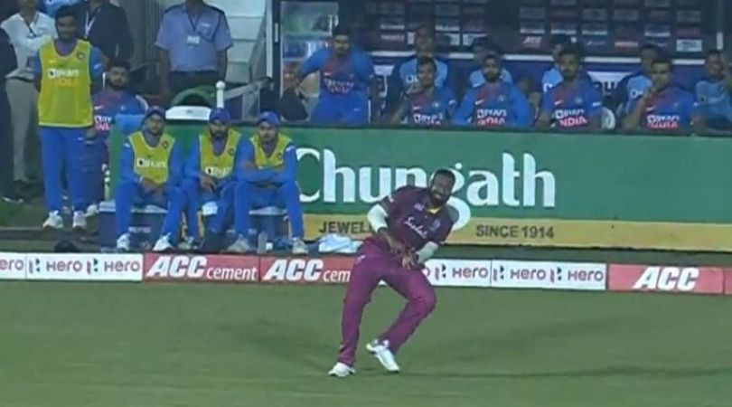 Watch: Kieron Pollard's bizarre catch drop saves Shivam Dube from losing wicket