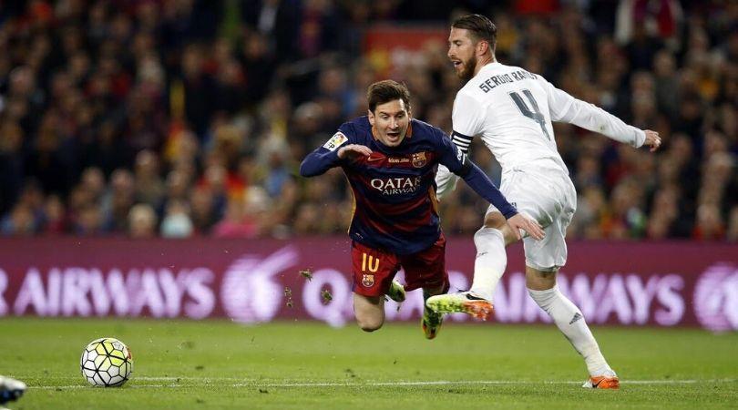 Video compilation of Sergio Ramos trying to end Lionel Messi's career surfaces