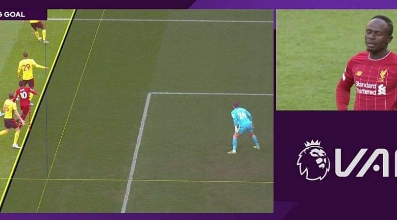Sadio Mane goal disallowed by VAR in surprising manner against Watford