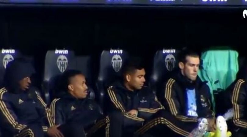 Gareth Bale caught doing bottle flip challenge while on bench against Valencia