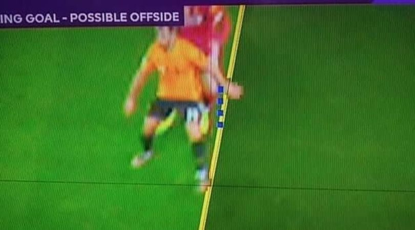 VAR controversially rules out Wolves equalizer against Liverpool in Premier League game