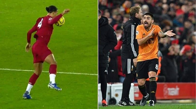 Wolverhampton player rants against VAR over alleged handball by Virgil Van Dijk