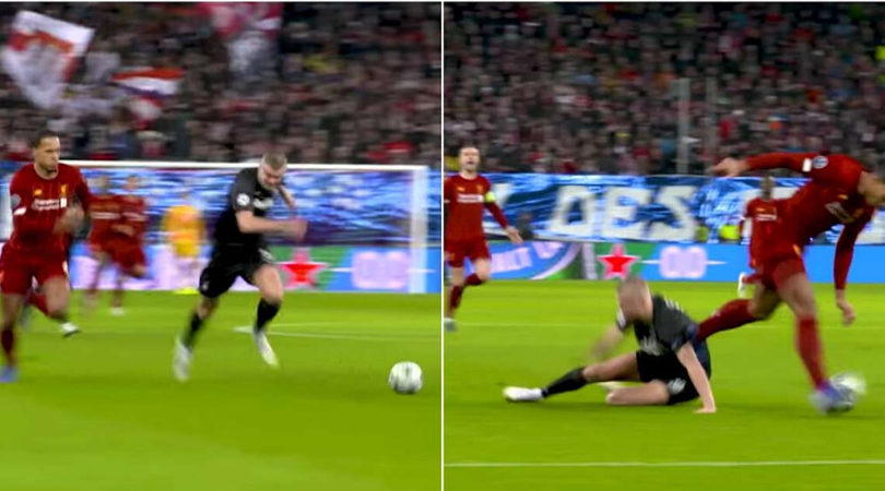 Virgil Van Dijk showed Erling Haaland why he's the best defender in the world during Salzburg vs Liverpool