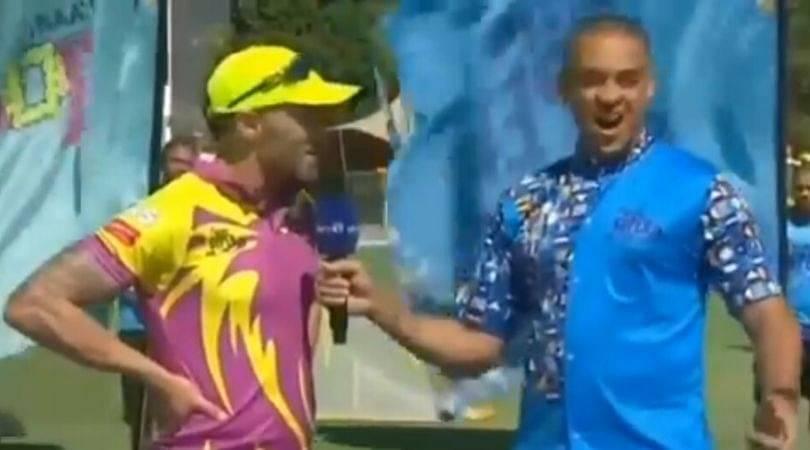 Faf du Plessis sister: Watch du Plessis gives hilarious reason behind Hardus Viljoen not playing vs Nelson Mandela Bay Giants