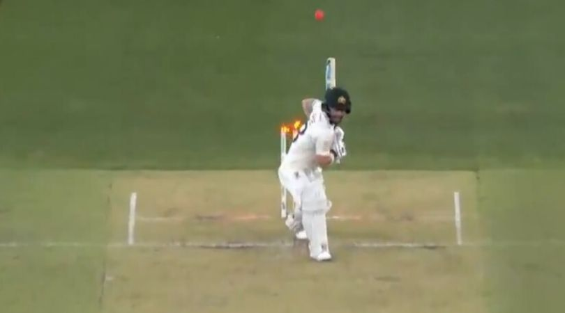 WATCH: Matthew Wade shoulders arms to get out against Tim Southee's in-swinging delivery