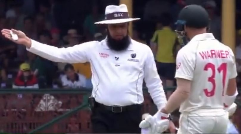WATCH: David Warner and Marnus Labuschagne fined for running on the pitch by Aleem Dar at SCG