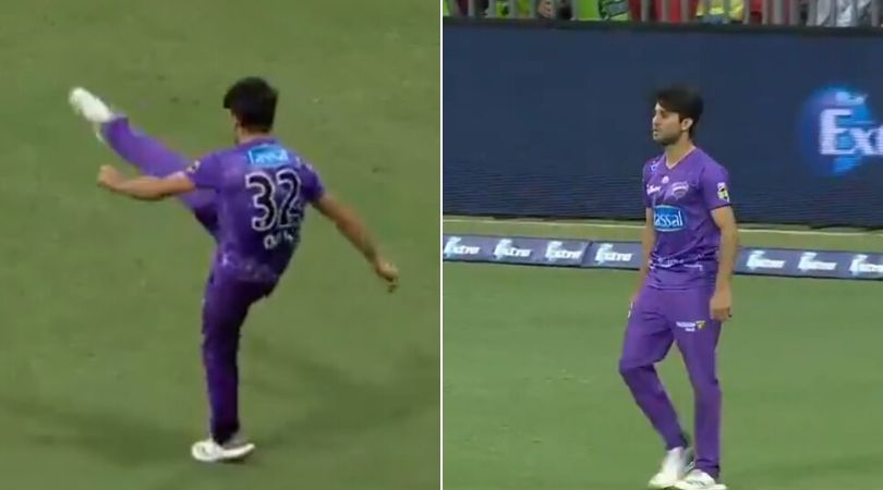 WATCH: Qais Ahmad kicks the ball angrily after dismissing Chris Morris in BBL 2019-20
