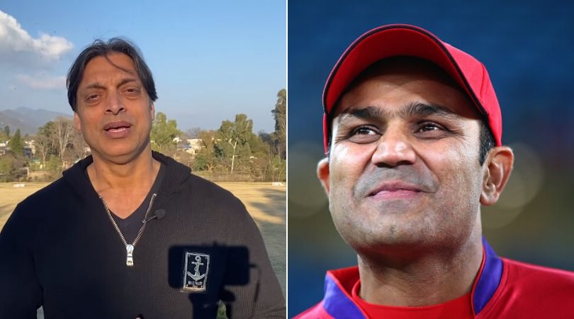 WATCH: Shoaib Akhtar takes hilarious dig at Virender Sehwag; claims he has more money than Sehwag's hair
