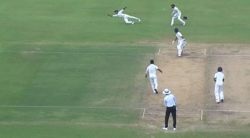 WATCH: Baba Aparajith grabs magnificent one-handed catch to dismiss Aditya Tare at Chepauk