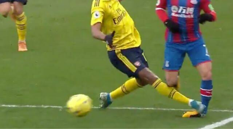 Aubameyang Red Card Arsenal Captain sent off after a dangerous challenge during Arsenal vs Crystal Palace