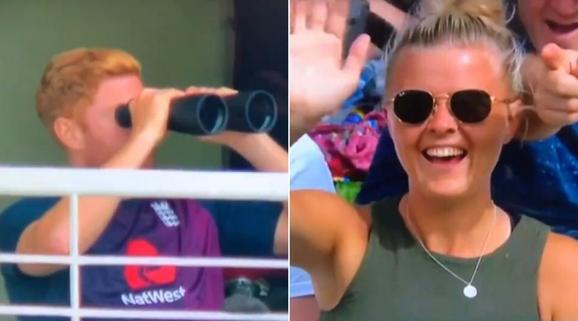 WATCH: Jonny Bairstow uses binoculars during Cape Town Test; TV director merges it with visuals of women
