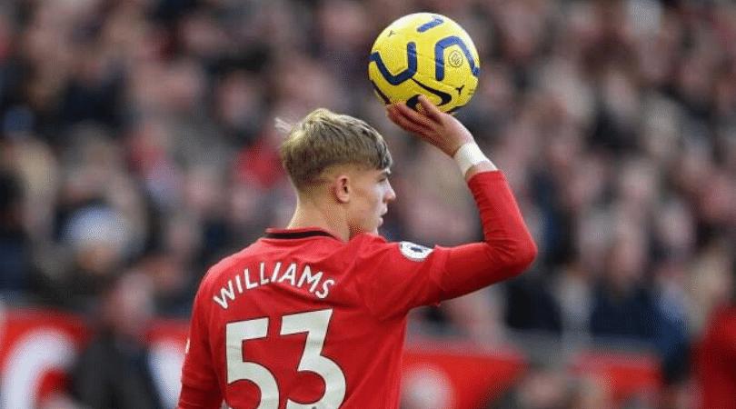 Brandon Williams open goal miss Man Utd starlet produces miss of the season vs Norwich