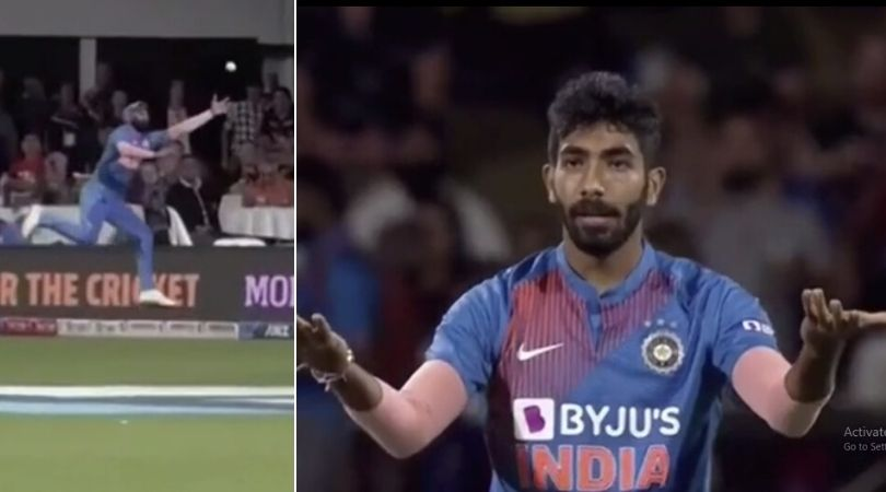 WATCH: Jasprit Bumrah unhappy with Mohammed Shami's half-hearted fielding attempt in Hamilton T20I