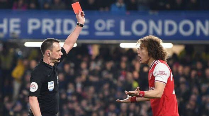 David Luiz Red Card Vs Chelsea