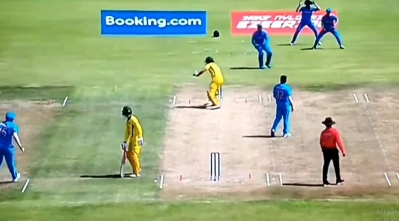 WATCH: India appeal for obstructing the field against Sam Fanning in U-19 Cricket World Cup Quarter-Final