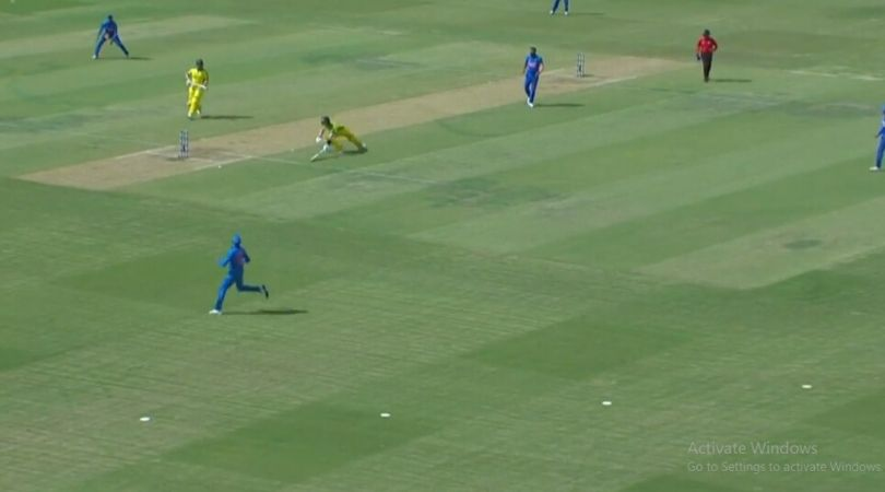 WATCH: Aaron Finch and Steve Smith involved in devastating mix-up; Finch expresses anger after getting out