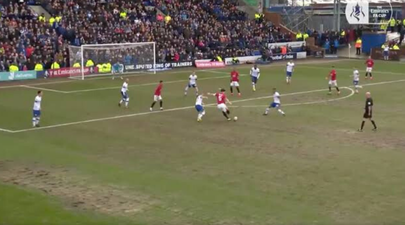 Harry Maguire goal vs Tranmere Man Utd captain scores a screamer from outside the box