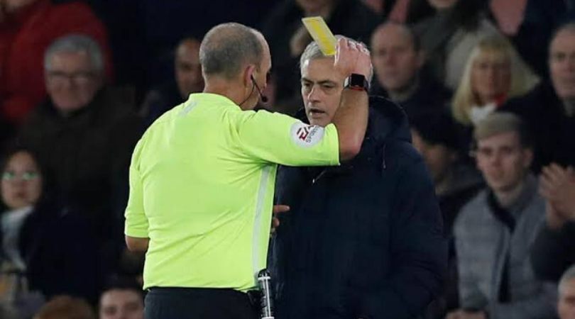 Jose Mourinho handed yellow card after being caught spying on Southampton's tactics vs Tottenham