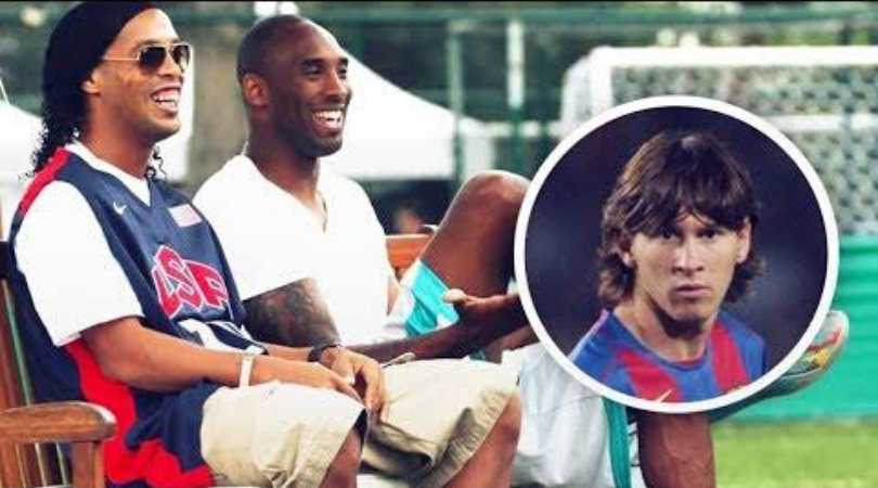 Kobe Bryant's discussion with Ronaldinho about a 17year old Lionel Messi has gone Viral