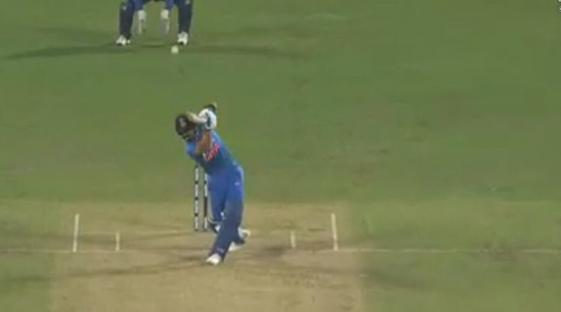 WATCH: Virat Kohli caresses classy six off Angelo Mathews in Pune T20I