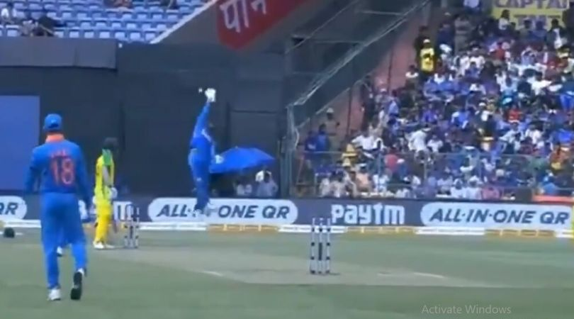 WATCH: Rohit Sharma backs-up Virat Kohli's wayward throw to KL Rahul in Bengaluru ODI