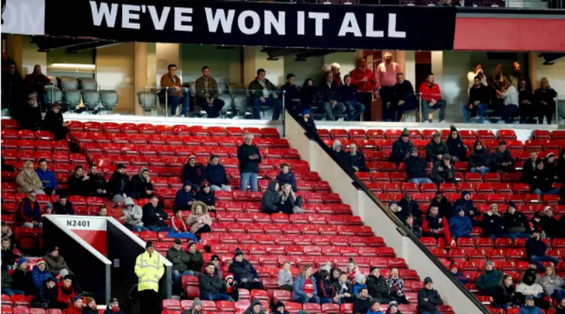 Manchester United are struggling to sell out Old Trafford for the Carabao cup semi-final clash vs Man City