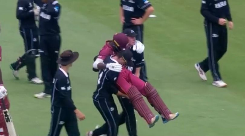 WATCH: Jesse Tashkoff and Joseph Field carry off Kirk McKenzie; fans love the spirit of cricket in U-19 World Cup