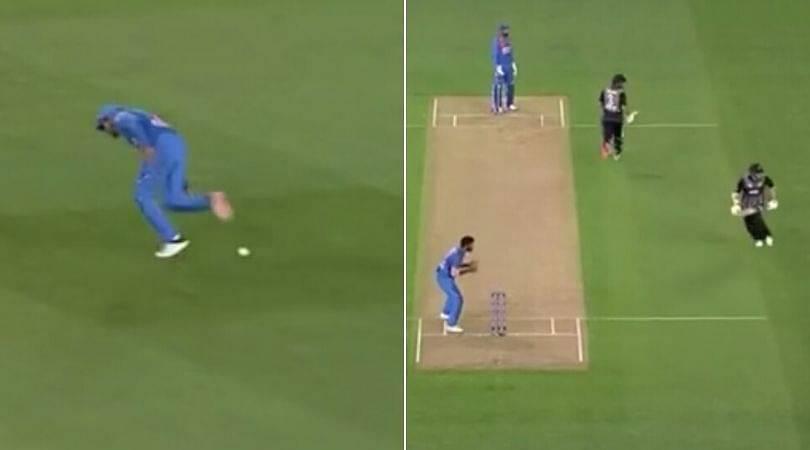 WATCH: Manish Pandey and Ravindra Jadeja err in field as Kiwi batsmen run four runs at Eden Park