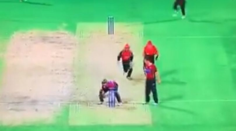 WATCH: Video of Peter McGlashan's proactive wicket-keeping technique surfaces on Twitter