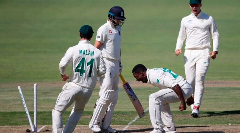 Kagiso Rabada to miss Johannesburg Test after earning demerit point for celebrating Joe Root's wicket