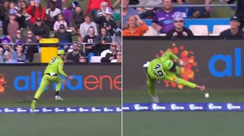 WATCH: Alex Ross nearly grabs catch of the millennium in Hurricanes vs Thunder BBL match