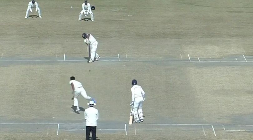 WATCH: Sarfaraz Khan hits seven fours in two overs off Pankaj Jaiswal in Ranji Trophy