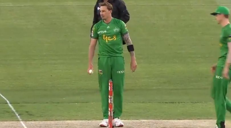 WATCH: Dale Steyn hilariously teases Tom Andrews before running him out at MCG