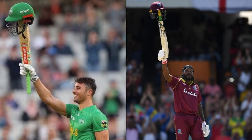 WATCH: Marcus Stoinis emulates Chris Gayle's celebration after scoring maiden BBL century vs Sixers