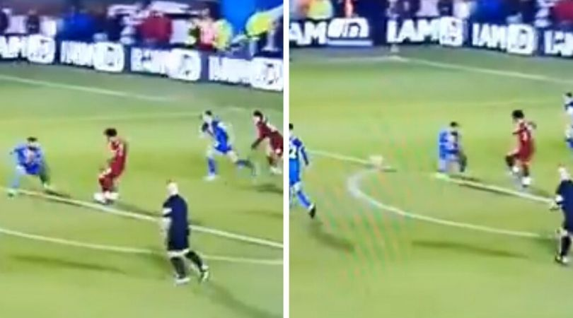 Mohamed Salah tried to pass ball to Joel Matip after replacing him against Shrewsbury