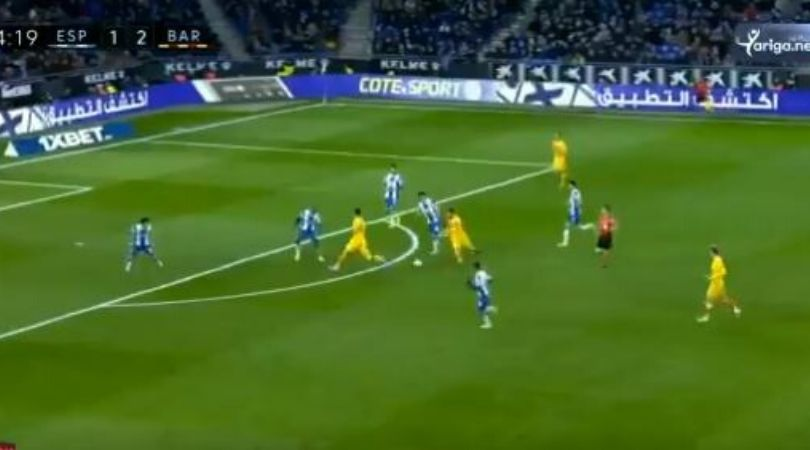 Lionel Messi almost makes a wonder assist for Barcelona against Espanyol