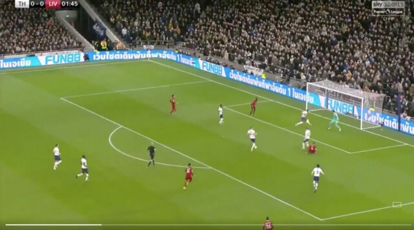 Japhet Tanganga makes double-save against Liverpool on his debut game