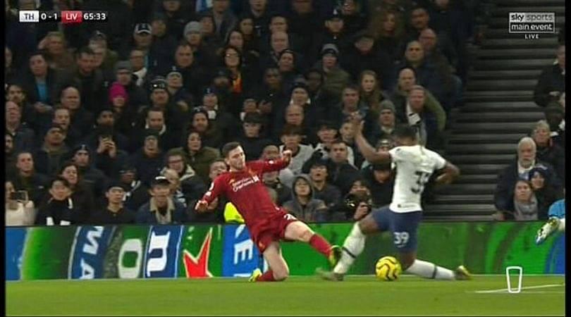 Andy Robertson should have been punished; fans opines after brutal tackle on Japhet Tanganga