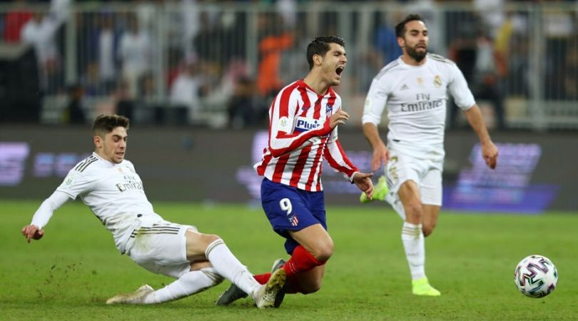 Federico Valverde receives huge praise from Diego Simeone for his sacrificial red card in Supercopa final