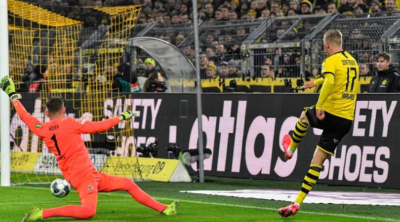 Erling Haaland scores from unbelievable angle to prove his caliber in Bundesliga