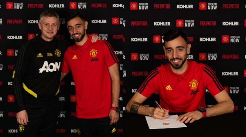 What is Bruno Fernandes shirt number at Manchester United